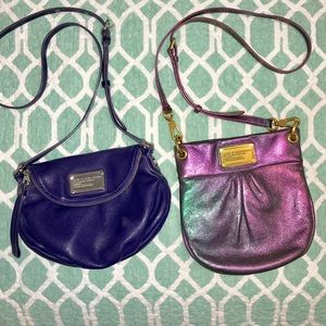 Pair of Marc Jacobs Mini Natasha Crossbody Bags